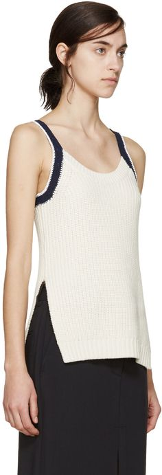 3.1 Phillip Lim - Ivory Knit Tank Top
