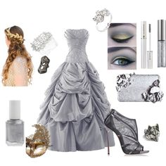 Juliet Capulet: Masked Ball by brooksse on Polyvore featuring polyvore, fashion, style, Casadei, Masquerade, Bochic, Jon Richard, Lancôme, Urban Decay and Essie