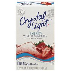 Crystal Light Energy. Love this stuff! Since my doctor contributed my heart problems to too much caffeine, I replaced all soft drinks and coffee with one of these in the morning, plain water the rest of the day. This still has a little bit of aspartame in it, but not enough to cause any damage as long as it's consumed in moderation.