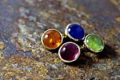 Handmade by goldsmith bespoke jewelry. Druzy Ring, Gemstone Rings, Bespoke Jewellery, Garnet, Cufflinks, Gemstones, Yellow, Gold, Pink