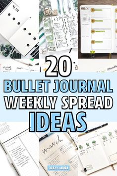 Starting a new weekly in your bullet journal and want some layout inspiration?? Check out these adorable spread ideas to get started! Digital Bullet Journal, Bullet Journal Weekly Layout, Bullet Journal Lettering Ideas, Bullet Journal Junkies, Bullet Journal Spread, Bullet Journal Layout, Bullet Journal Inspiration, Bullet Journals, Journal Ideas