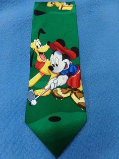 DISNEY MICKEY UNLIMITED SILK MENS TIE NECKTIE  NECK TIE MICKEY MOUSE GOLFING #Disney #MickeyMouse $golf #NeckTie #mensfashion #eBay
