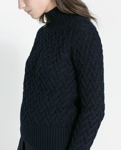 Image 5 of SHORT CABLE KNIT SWEATER from Zara