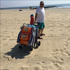 Nothing to see here. Just a man on the beach with his Wonder Wheeler. #riobrands #summer2016