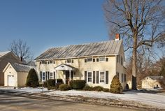 """A true federal period (1770-1820), center hall colonial in the northeastern """"eyebrow"""" style, this exceptional house sits with quiet dignity in the Village of Livingston. Wide and gracious entry hall, living room with fireplace, dining room, office, large eat in-kitchen and light-filled sunroom. The family room with original brick kitchen fireplace dates back to1773. Meticulously […]"""