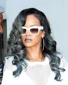 Rihanna with grey hair!...LOVE! http://www.latesthair.com/