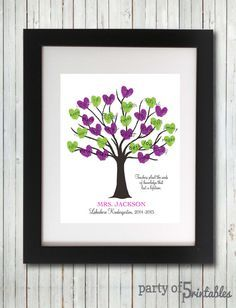 Teacher Appreciation Gift Fingerprint Tree - Plant Seeds Quote - Classroom Gift from Students Thumbprint Tree - Printable Digital File Teacher Retirement Gifts, Student Teacher Gifts, Best Teacher, Teacher Signs, Class Teacher, Teacher Quotes, Seed Quotes, Thumbprint Tree, Fingerprint Art
