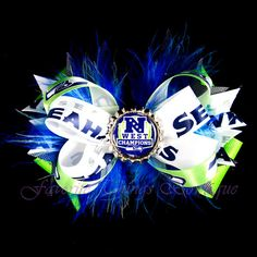 Seattle Seahawks NFC West Champions Hair Bow by FavoriteThingsBows, $9.99