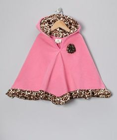 Take a look at this Bubble Gum & Cheetah Poncho - Infant, Toddler & Girls by Million Polkadots on #zulily today!