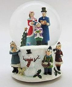 Limited Edition Bernard Klaus Carolers Musical Snow Globe