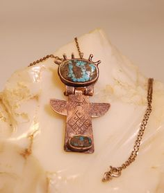 Angel necklace Talisman Shaman Necklace by shamanstones on Etsy
