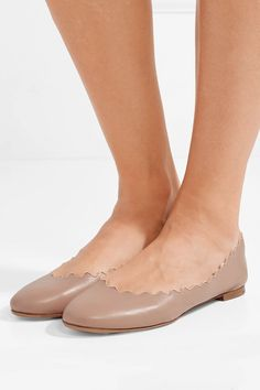 Find and compare Lauren scalloped leather ballet flats across the world's largest fashion stores! Nude Flats, Leather Ballet Flats, Ballet Beautiful, Leather Slip Ons, Stella Mccartney, Chelsea Boots, Footwear, Heels