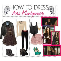 """How To Dress LIke: Aria Montgomery"" by the-stunning-tipmunks on Polyvore"