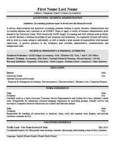 General Accountant Resume Template  Premium Resume Samples