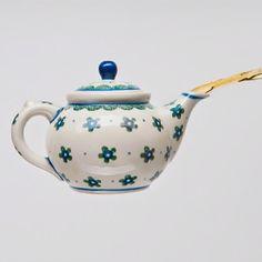 52 teapots.  Week 3.  Handpainted flowers.