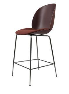 GUBI // Beetle Bar Chair, seat upholstered, by GamFratesi