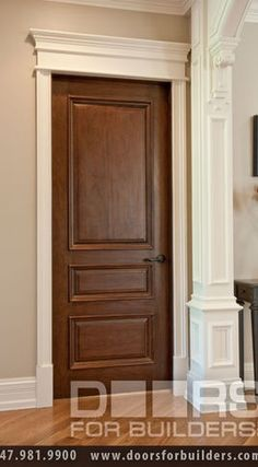 Wood doors and painted trim