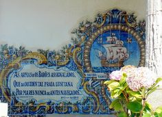 Painted tile with poem of Vasco da Gama