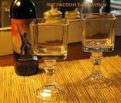 Set of (2) Square Redneck Wine Glasses. $18.00, via Etsy.