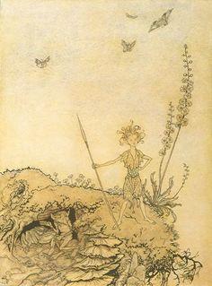 Arthur Rackham illustrations - A Midsummer Night's Dream: Oberon