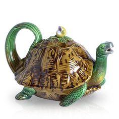 Majolica teapot by Minton