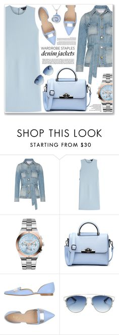 """denim jackets"" by nanawidia ❤ liked on Polyvore featuring Frame Denim, Theory, MICHAEL Michael Kors, Dogma, Christian Dior, Ice, polyvoreeditorial, denimjackets, polyvorecontest and WardrobeStaples"