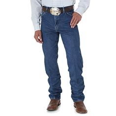 8347f15e Wrangler Men's George Strait Cowboy Cut Original Fit Jean, Heavyweight  Stone Denim, ...