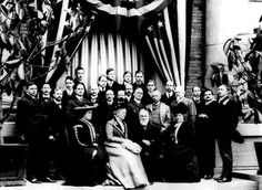 This photo was taken at Kodak Park on April 20, 1902, when the British scientist William Thomson, Baron Kelvin, visited Rochester. Seated are Mrs. George Strong Carter of Honolulu (Helen), Lady Kelvin, Lord Kelvin and Mrs. Charles S. Abbott. Henry A. Strong, the first president of the Eastman Kodak Co. and Mrs. Carters father, is behind Mrs. Abbott, and Kodak founder George Eastman is behind Lord Kelvin. William G. Stuber, who retired as Kodak president in 1934, is second from the right end; hi