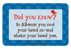 My kids love these fun facts by www.sayplease.com  Lunchbox Love for Kids makes lunch fun and educational for kids.  How confused would you be if you visited Albania--LOL  lunch notes