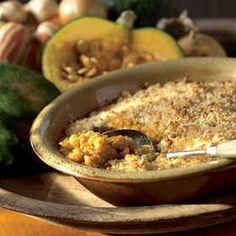 Winter Squash Gratin (sub acorn or sugar dumpling for the butternut)