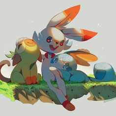 Scorbunny Grookey Sobble Pokemon Sword and Shield Wallpaper Pokemon Fan Art, Pokemon Comics, My Pokemon, Pikachu, Pokemon Images, Pokemon Pictures, Pokemon Starters, 3840x2160 Wallpaper, Anime Kawaii