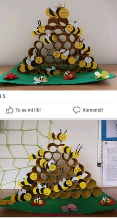 Preschool Insect Crafts For Kids Kindergarten Crafts, Preschool Crafts, Diy Crafts For Kids, Arts And Crafts, Children Crafts, Craft Ideas, Insect Crafts, Bee Crafts, Toilet Paper Roll Crafts