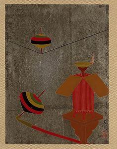 Tops  Shibata Zeshin  (Japanese, 1807–1891)  Period: Edo period (1615–1868) Culture: Japan Medium: Album leaf; lacquer on silver paper