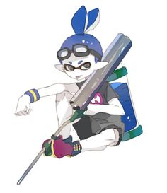 Blue, he is Cici's older brother he likes going to Octo Valley, he is funny and cool
