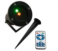 StarCaster Dancing Red & Green Laser Projector with Christmas Icons