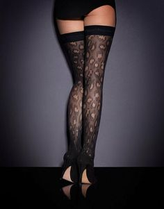 74512259e47 Panthere Hold Up Black - Hold Ups - Hosiery - Accessories