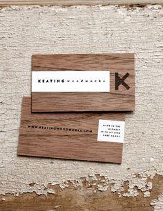Keating Woodworks - Wood Business Card   Creativeideas.today > Card Nerd