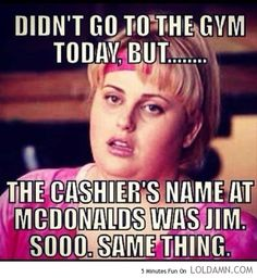 Haha everyday at KU. I decide to go to the gym, but there's food ERRYWHERE. Not my fault >.