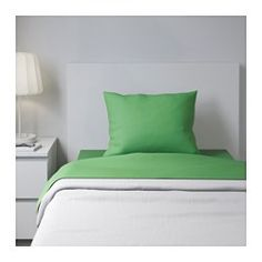 IKEA - DVALA, Sheet set, Twin, , Cotton feels soft and nice against your skin. Airstream Remodel, How To Dress A Bed, Linen Bedding, Bed Linens, Twin Sheet Sets, Kids Decor, Home Decor, Small Apartments, Bed Sheets