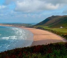 Rhossili Bay, Gower. Recently voted the third best beach in Europe!