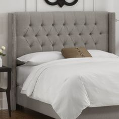 Skyline Furniture Tufted Upholstered Headboard grey 482$