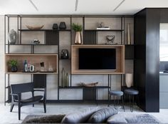Things That You Need To Know When It Comes To Industrial Decorating You can use home interior design in your home. Even with the smallest amount of experience, you can beautify your home. Tv Cabinet Design, Tv Wall Design, House Design, Living Room Tv, Home And Living, Living Room Ideas Tv Wall, Living Room Cupboards, Tv Wall Cabinets, Tv Wall Shelves