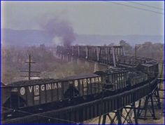 nw virginian coal train hoppers scioto river bridge
