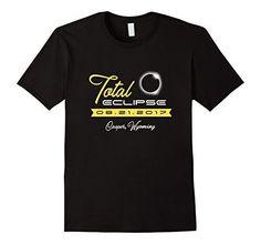 Total Solar Eclipse 2017 Shirt Casper Wyoming Souvenir Gift Male Small Black...