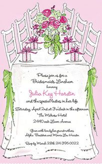 Designer bridal shower or luncheon invitation card. Bridal Luncheon Invitations, Bridal Shower Luncheon, Wedding Invitations, Invites, Bridesmaid Luncheon, Bridesmaids, Invitation Cards, My Heart, Entertaining