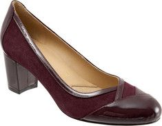 Women's+Trotters+Phoebe+Pump+-+Burgundy+Suede/Patent+with+FREE+Shipping+&+Exchanges.+The+Phoebe+pump+has+the+luxury+and+style+to+finish+any+look+with+panache.++