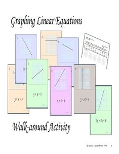 Purpose of activity This activity is designed to help students with graphing a linear equations (or for writing linear equations from graphs)....