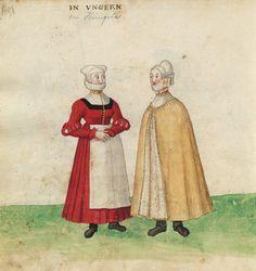 Hungarian women. Códice de trajes - spanish codex 1573.