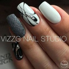 30 ideas which nail polish to choose - My Nails Simple Nail Designs, Gel Nail Designs, Nails Design, Fancy Nails, Trendy Nails, Hair And Nails, My Nails, Nails 2018, Manicure E Pedicure