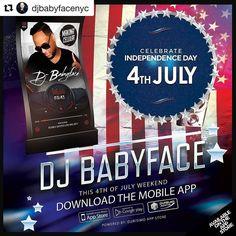 Musica buena y al dia con mi hermanito DJ BabyFace!!! #Repost @djbabyfacenyc  YA ALREADY KNOW HOW TO SPEND THE DAY TOMMORROW ! #JULY4TH WEEKND #DJBABYFACEAPP